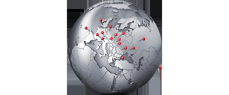 Worldwide precense of BIBUS METALS